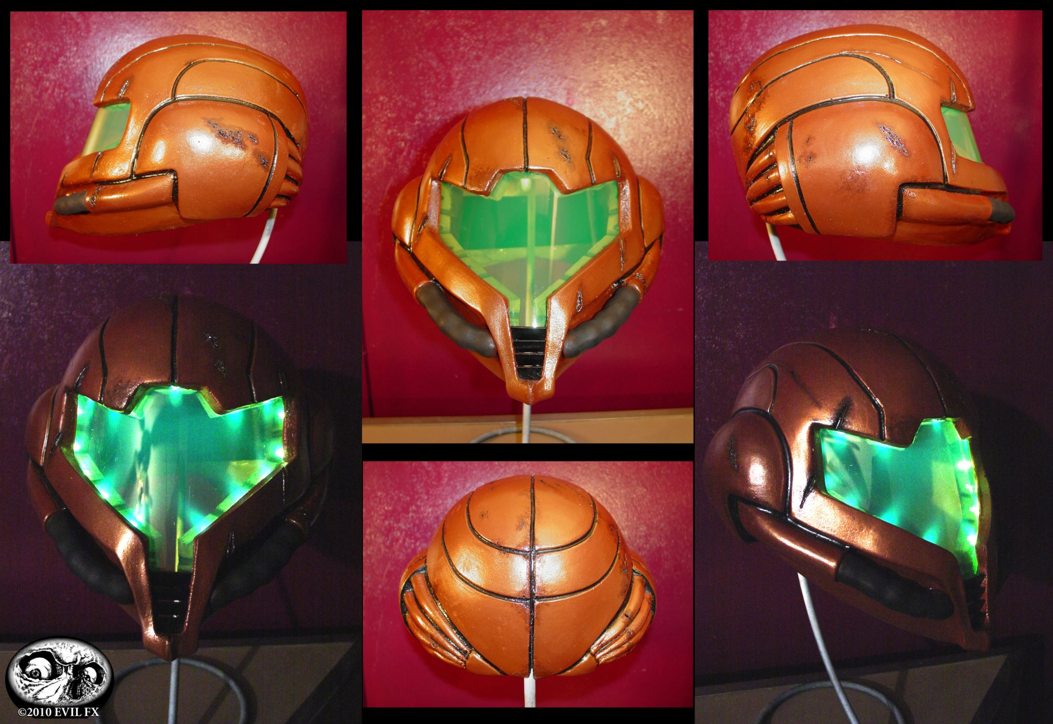 Metroid Battle Damaged helmet