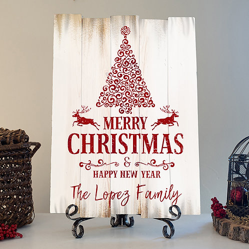 Custom Last Name Merry Christmas- Woodsign Making Experience