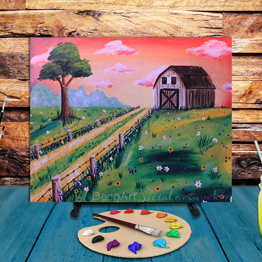 Country Barn -  Virtual Step by Step Painting Class