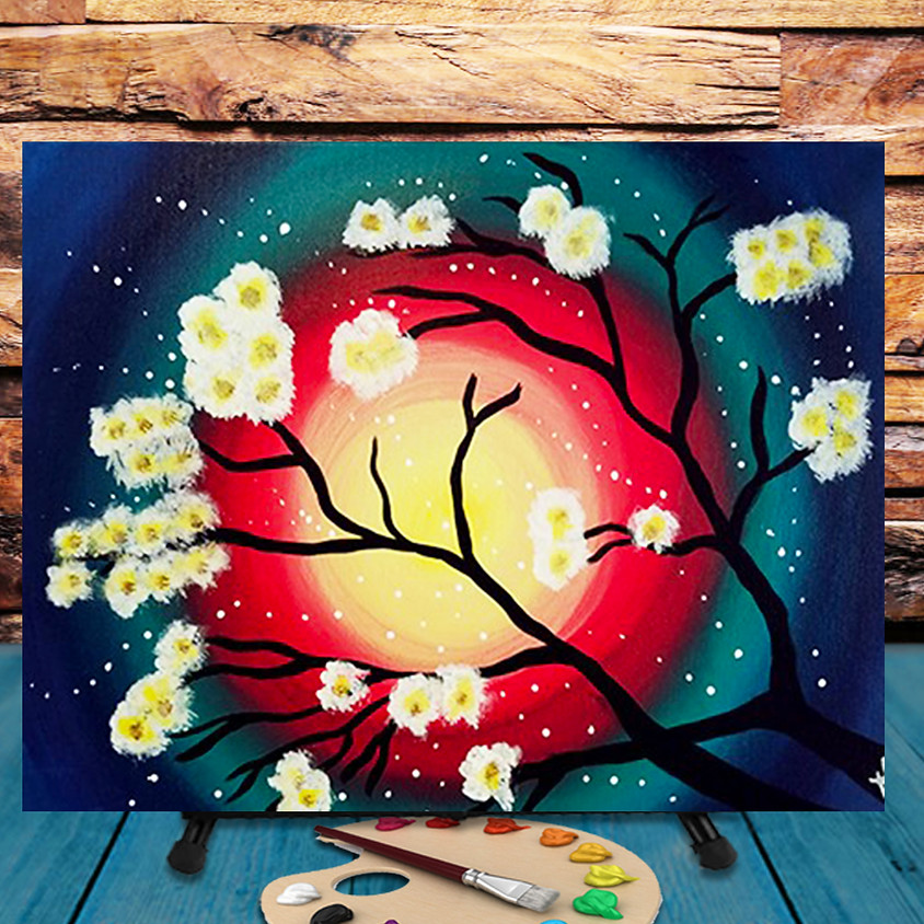 Colorful Bloom -  Virtual Step by Step Painting Class