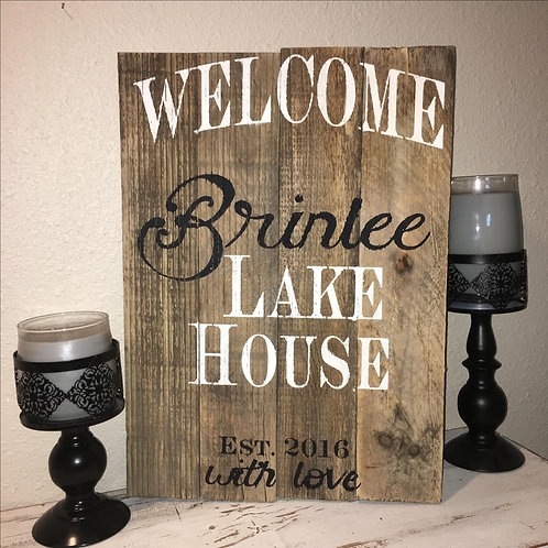 Welcome to our Lake House - Wood Sign Making Experience