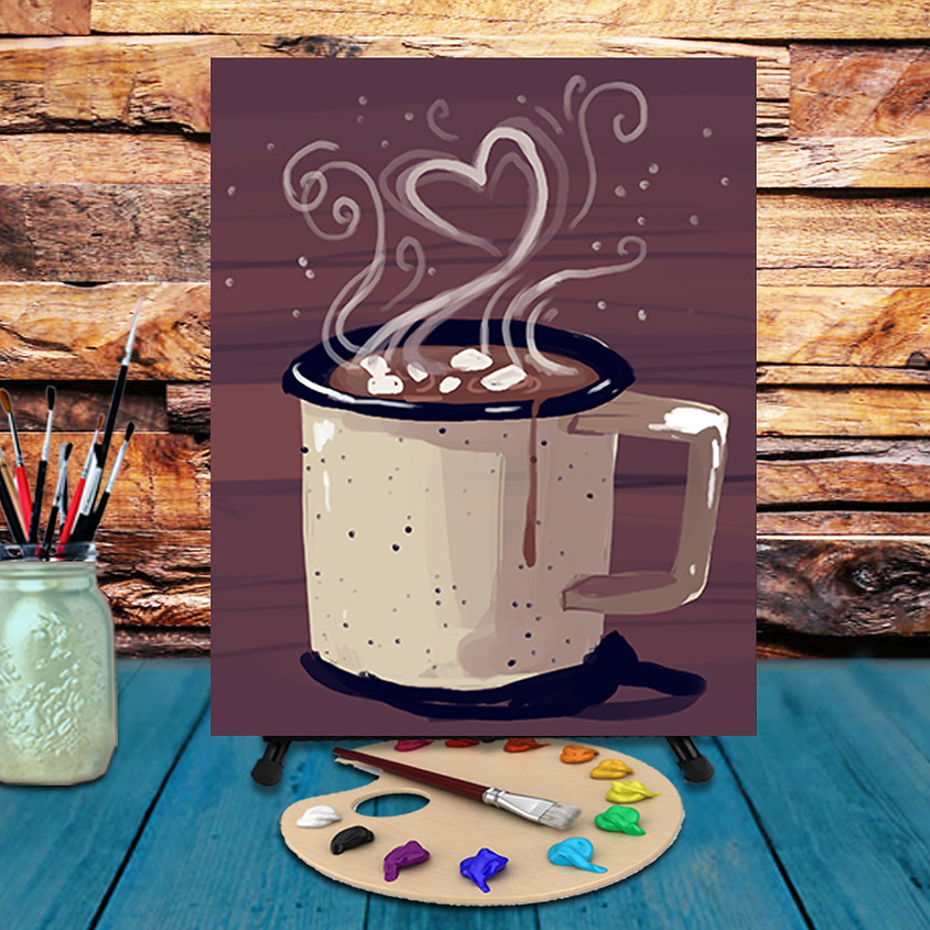 Hot Cocoa - Virtual Step by Step Painting Class