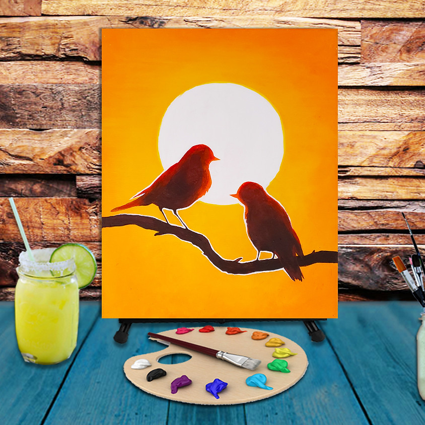 Sun Birds - Step by Step Painting Class