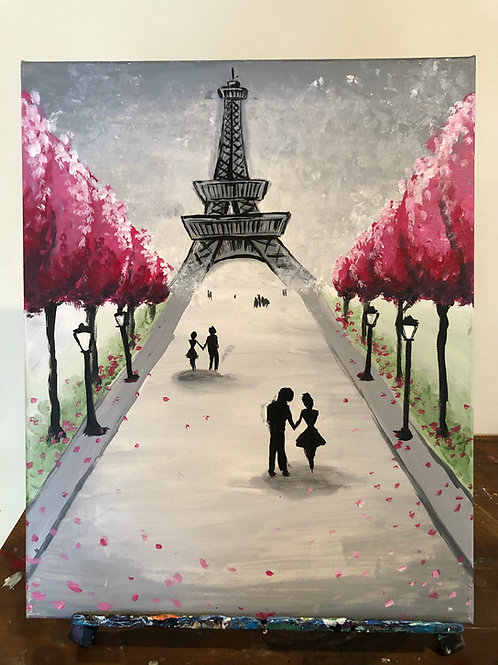 Walk in Paris (16x20 canvas)