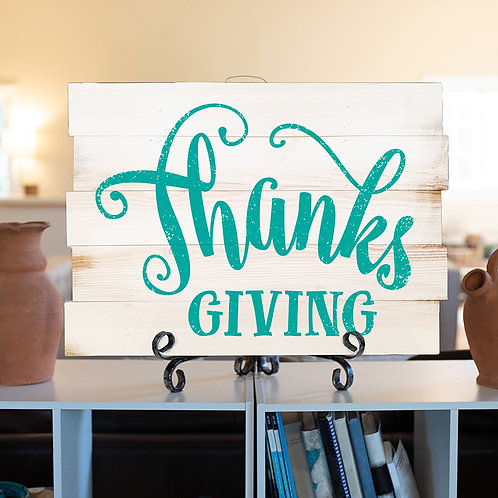 Thanks Giving- Woodsign Making Experience