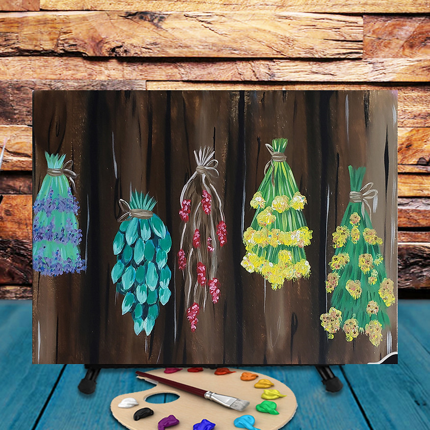 Herbs & Flowers - Step by Step Painting Class