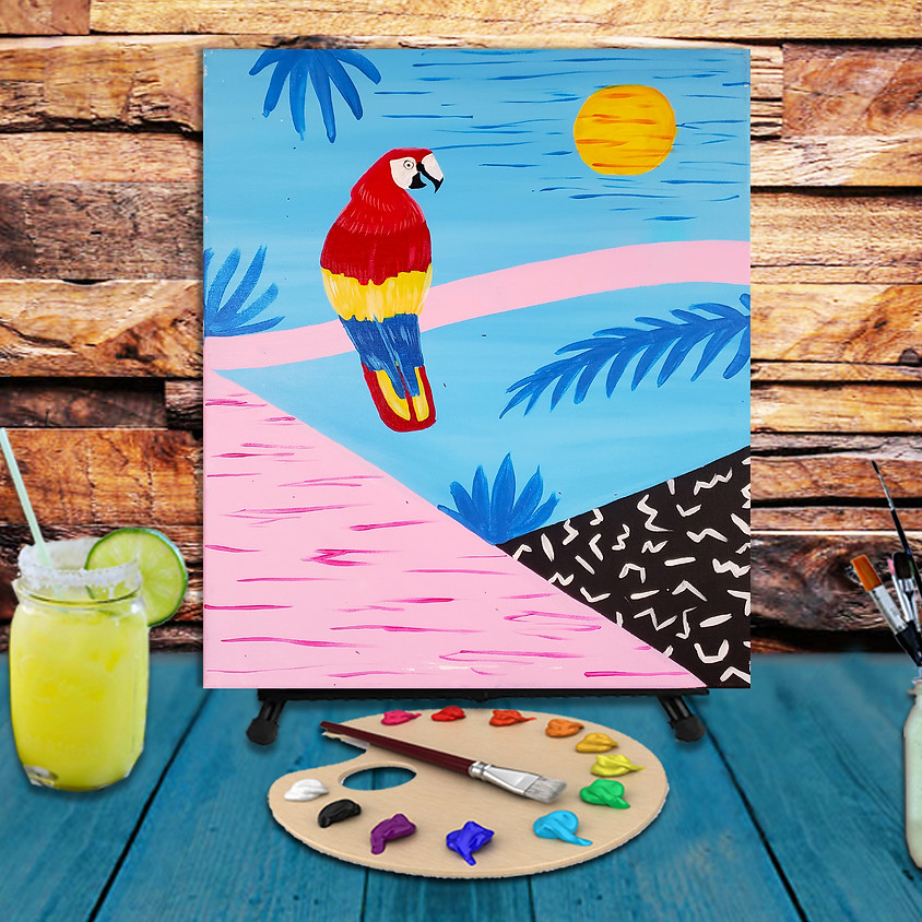 Tropical Parrot - Step by Step Plein Air Painting Class