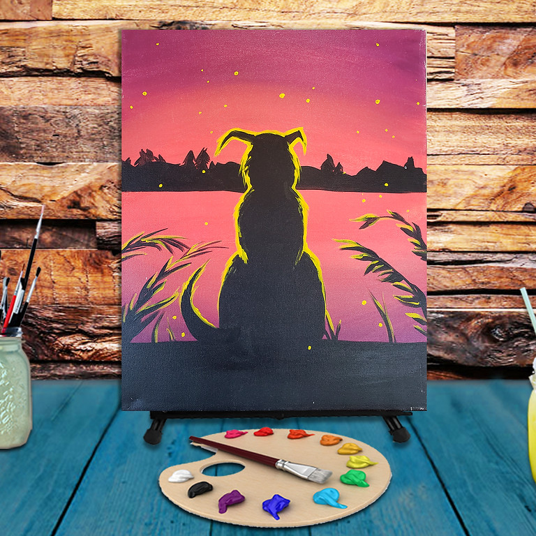 Dog Sunset - Virtual Step by Step Painting Class