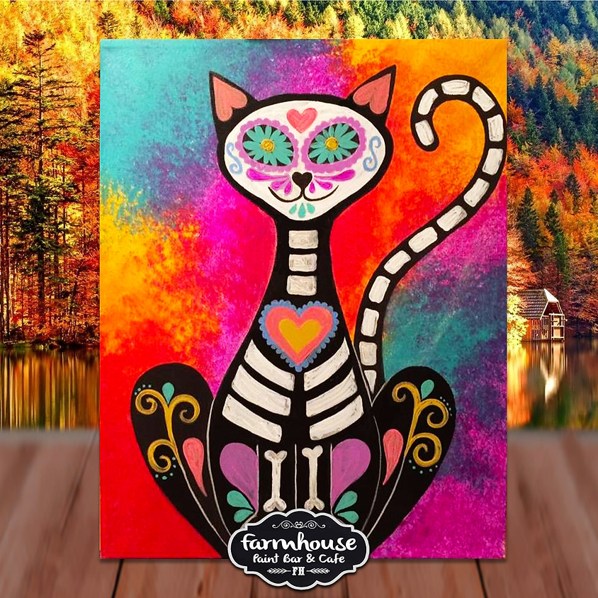 Skeleton Cat - Step by Step Painting Class