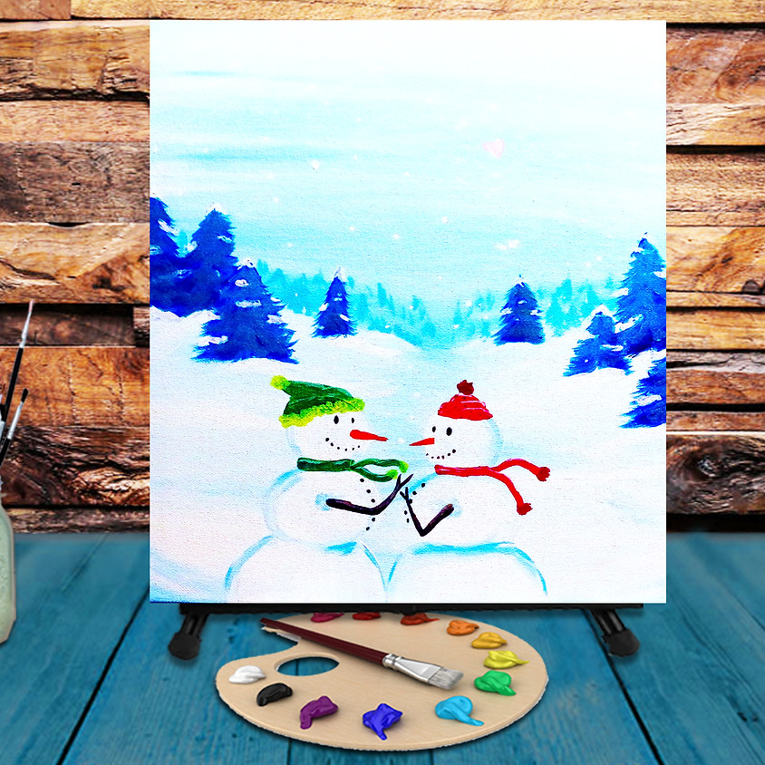 Snow Couple - Virtual Step by Step Painting Class