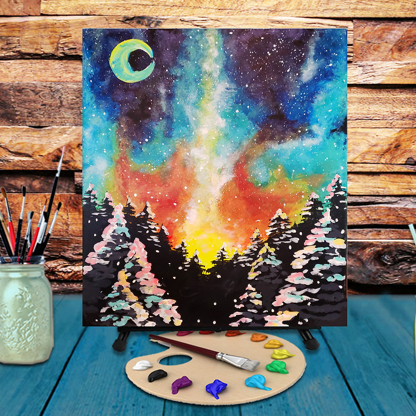Northern Lights - Virtual Step by Step Painting Class