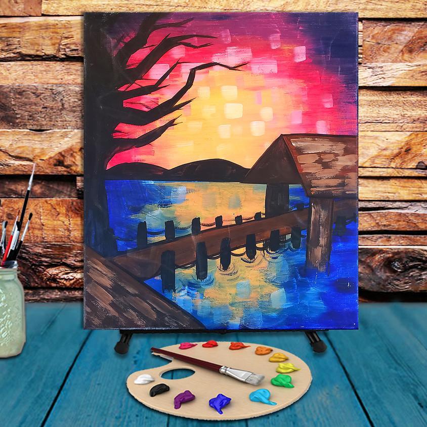 Lake Bridge - Virtual Step by Step Painting Class