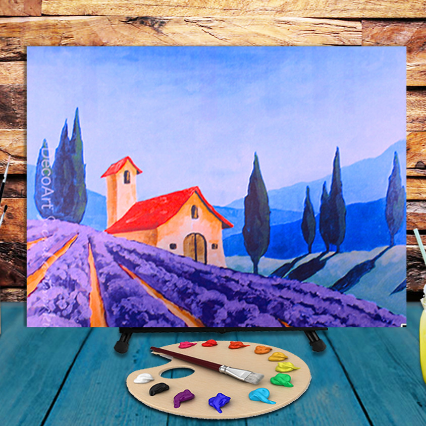 Tuscan Landscape - Virtual Step by Step Painting Class