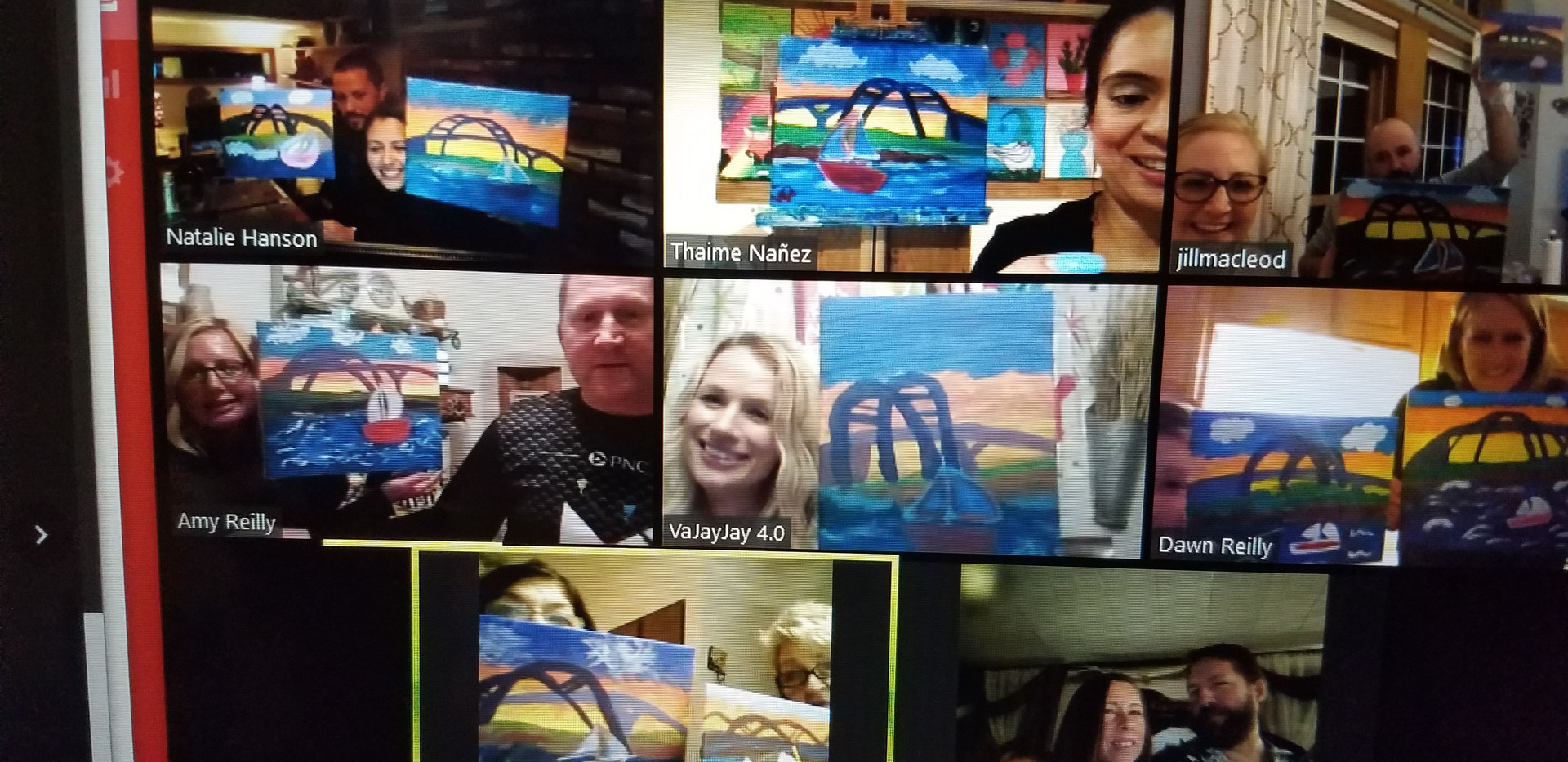 Bday Canvas Painting Party