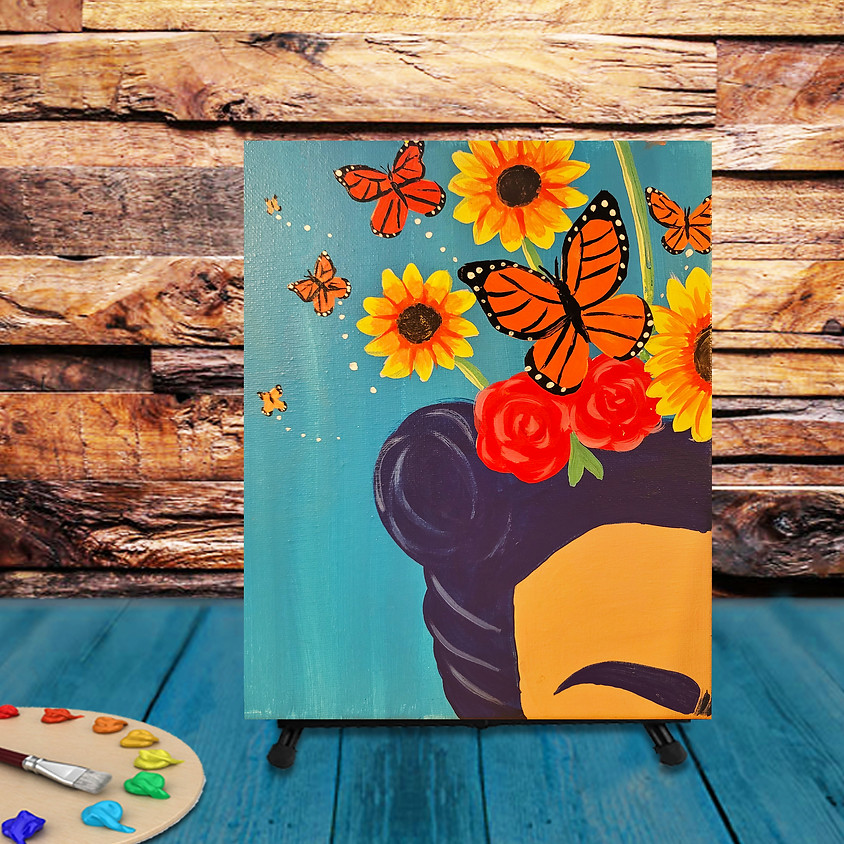 """Painting in the Garden - """"Butterfly Crown"""" -  Step by Step"""