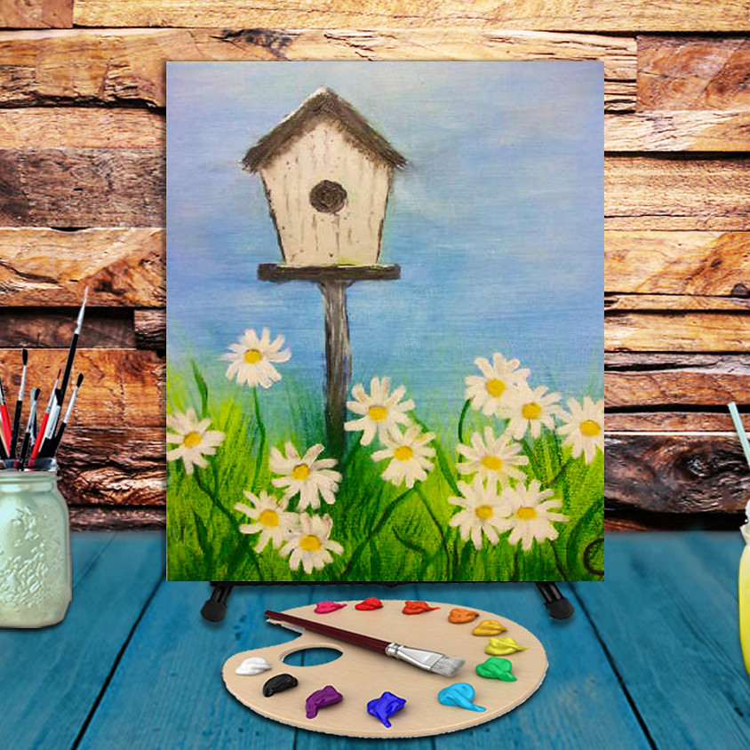 Bird House -  Step by Step Painting Class