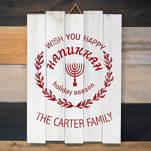 Custom Last Name Hannukah 2 - Woodsign Making Experience