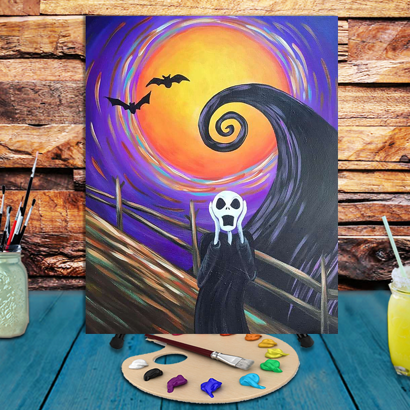 Skellington Scream - Step by Step Painting Class
