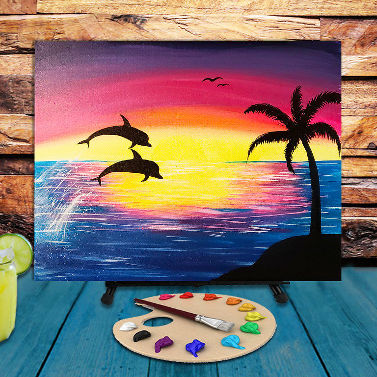 Dolphins -  Step by Step Painting Class