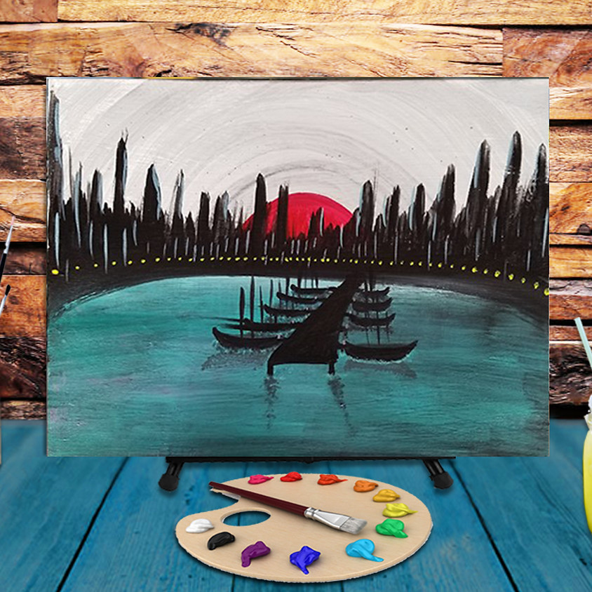 Teal Lagoon - Virtual Step by Step Painting Class