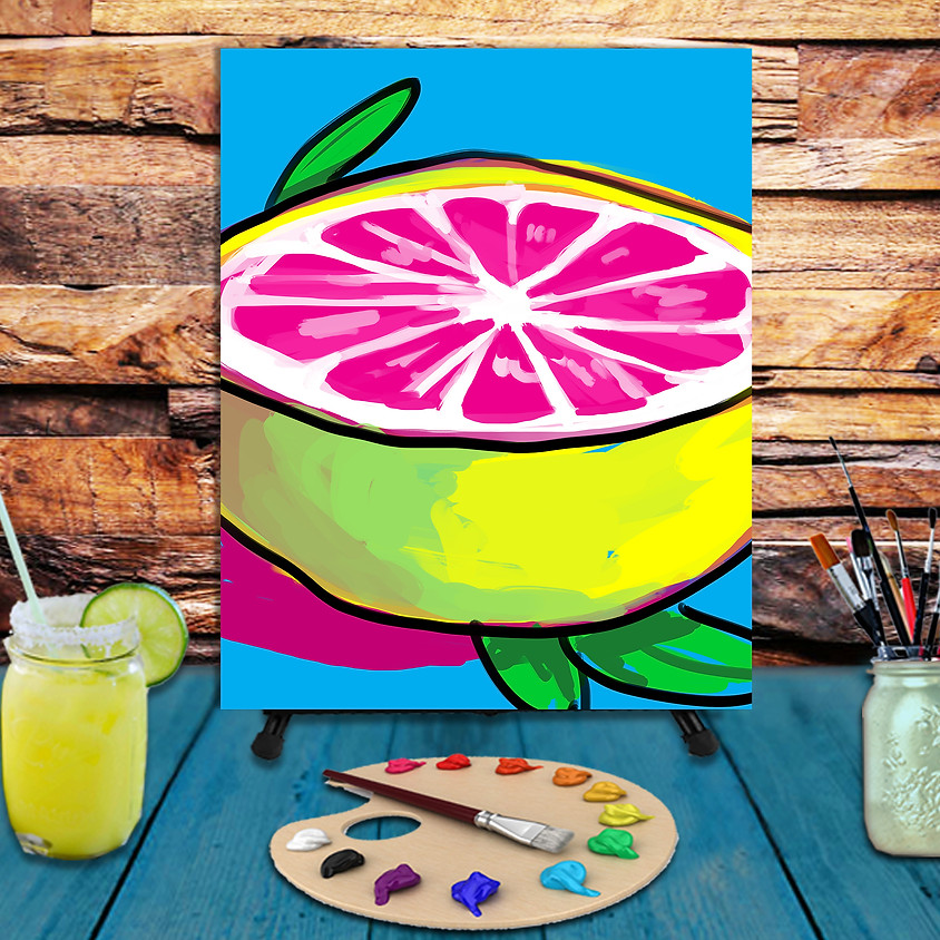 Grapefruit - Virtual Step by Step Painting Class
