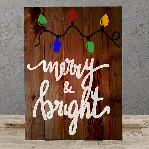 Merry & Bright - Woodsign Making Experience
