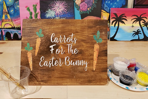 Carrots for the Easter Bunny Wood Sign Experience