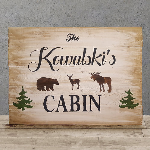 Custom Cabin Last Name - Woodsign Making Experience
