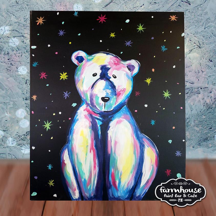 Colorful Polar Bear - Virtual Step by Step Painting Class