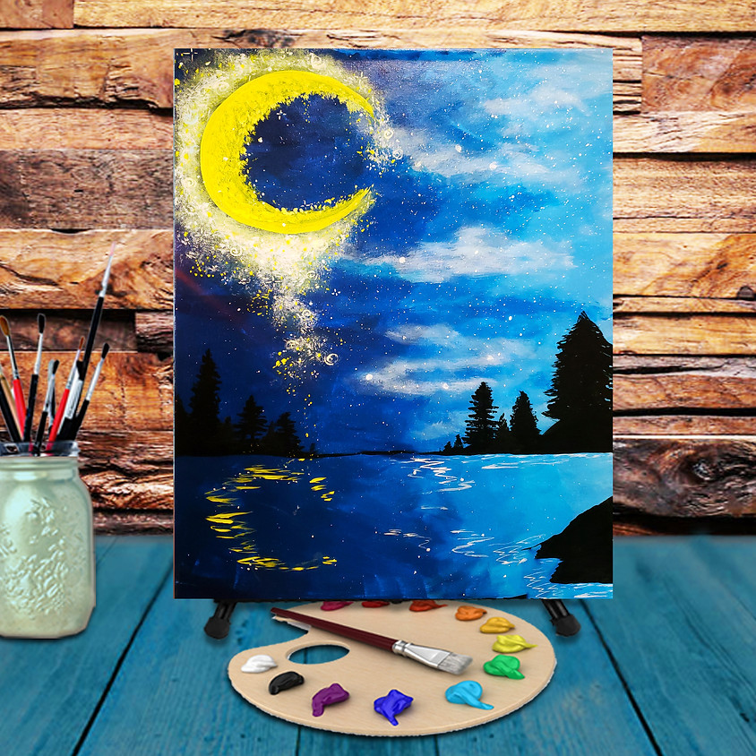 Magical Moon Dust - Virtual Step by Step Painting Class