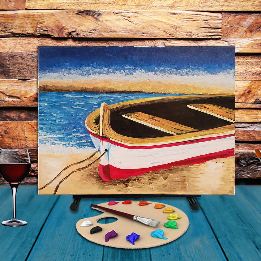 Beached Boat - Virtual Step by Step Painting Class