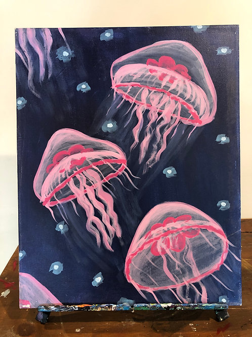 Jellyfish (16x20 canvas)