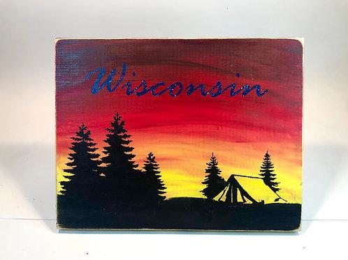 Wisconsin Camping Mixed Media Kit