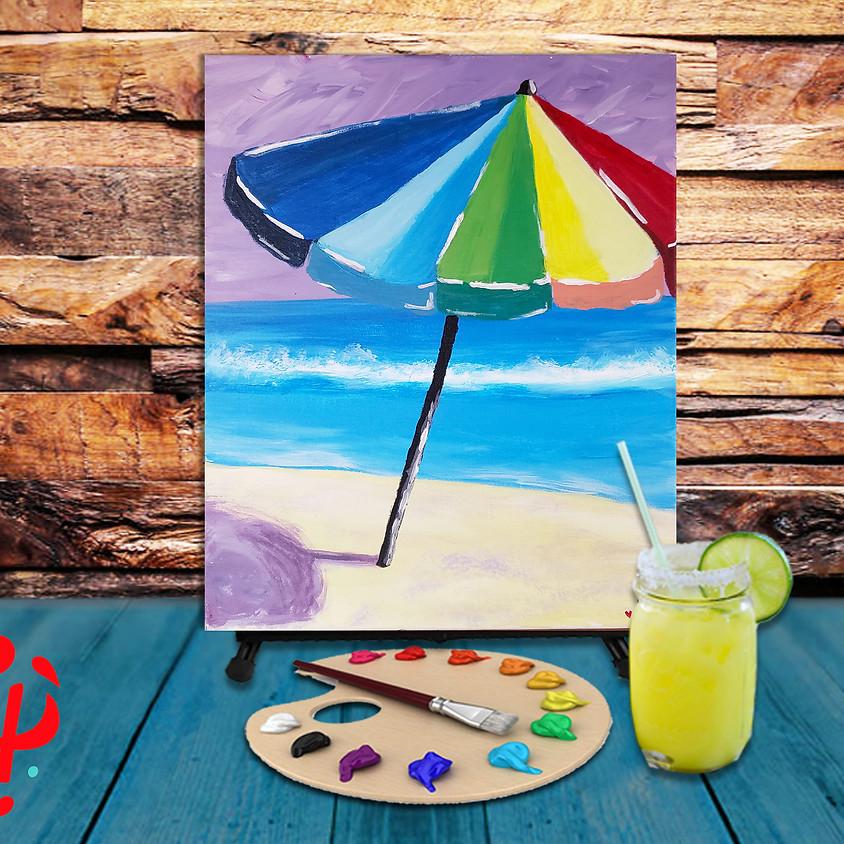 Beach Umbrella - Virtual Step by Step Painting Class