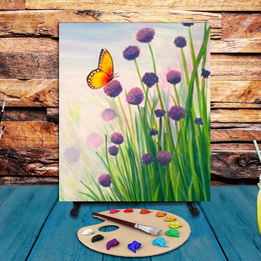 Smell the Flowers -  Step by Step Painting Class
