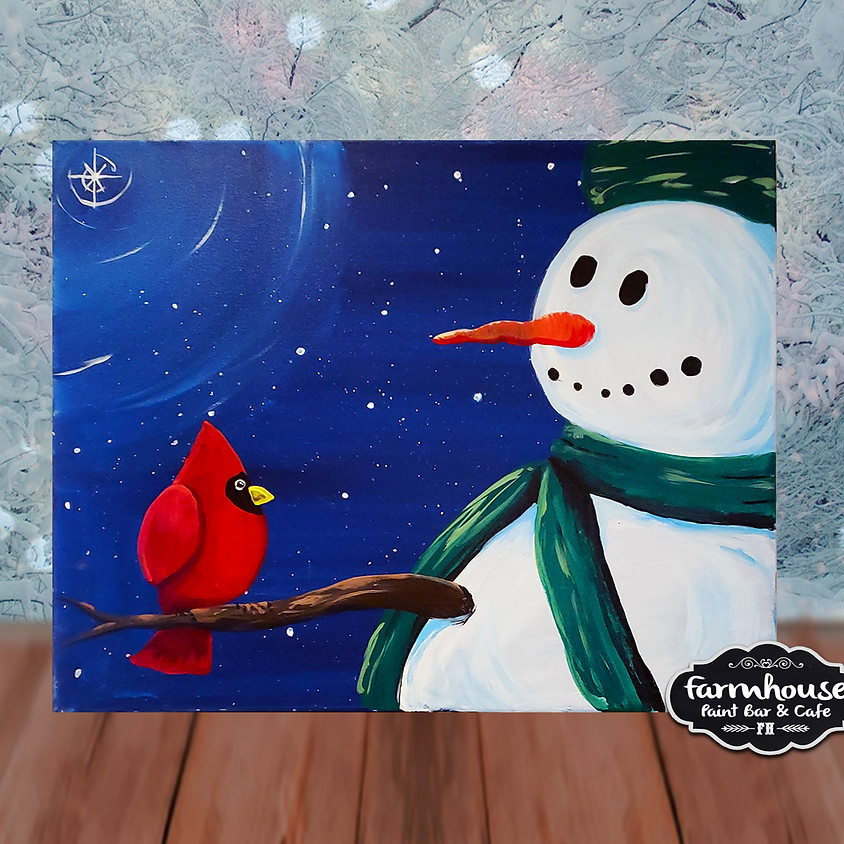 Winter Friends - Virtual Step by Step Painting Class
