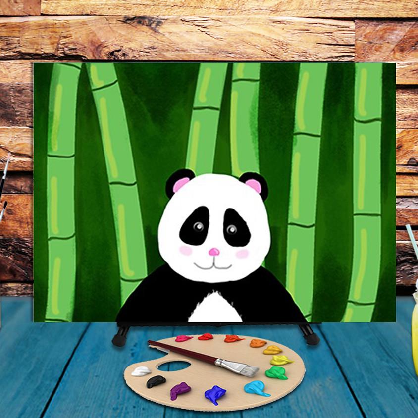 Cute Panda - Virtual Step by Step Painting Class