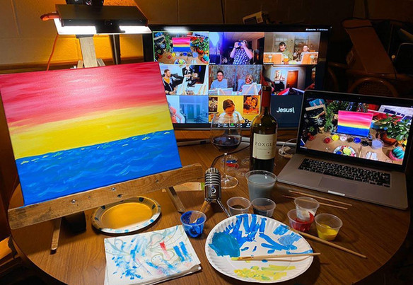 Canvas Virtual Painting Party