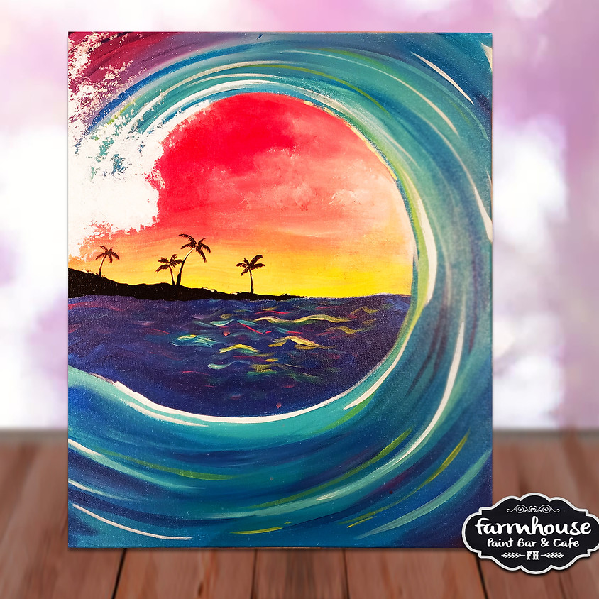 Colorful Waves- Virtual Painting Class