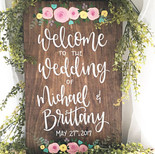Welcome to our Wedding Custom Name and Date