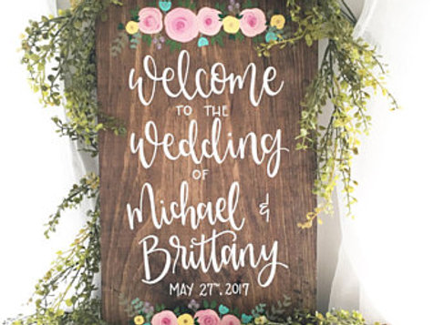 Welcome to our Wedding - Wood Sign Making Experience
