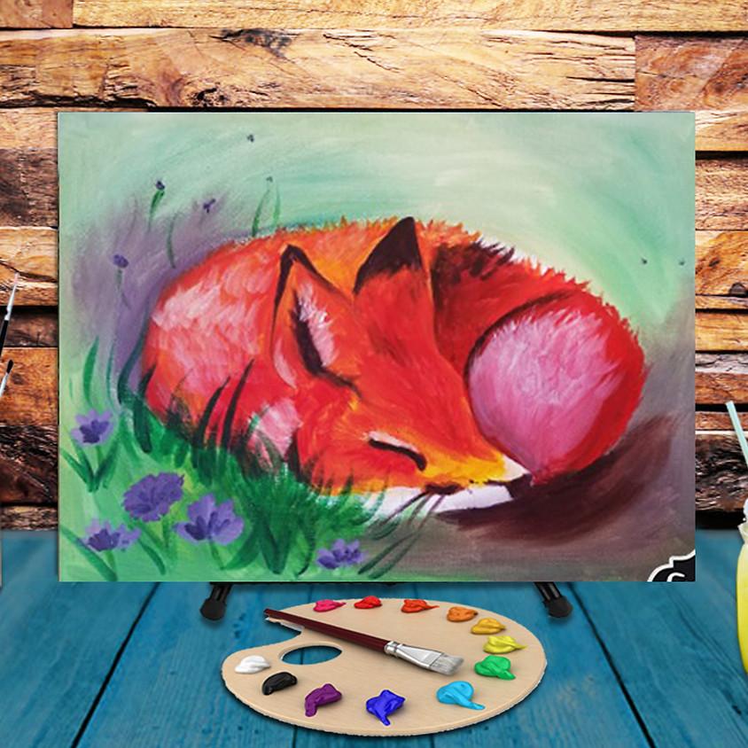 Sleepy Fox - Virtual Step by Step Painting Class