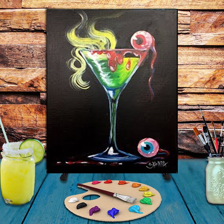 Scary Cocktail -  Step by Step Painting Class