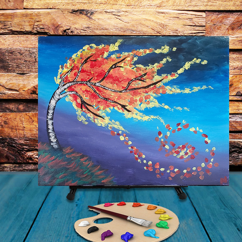 Leaves in the Wind - Virtual Step by Step Painting Class