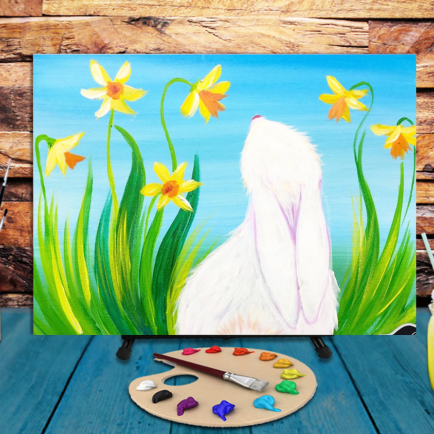 Easter Bunny - Virtual Step by Step Painting Class  (1)