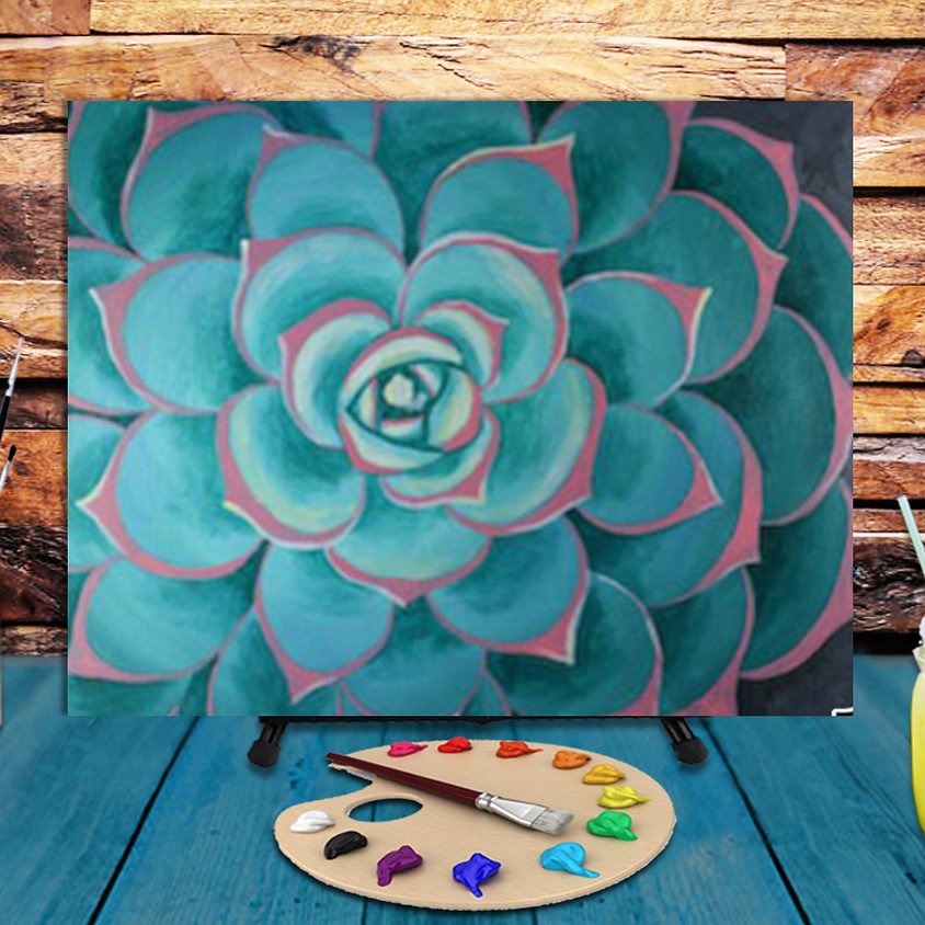 Succulent -  Step by Step Painting Class