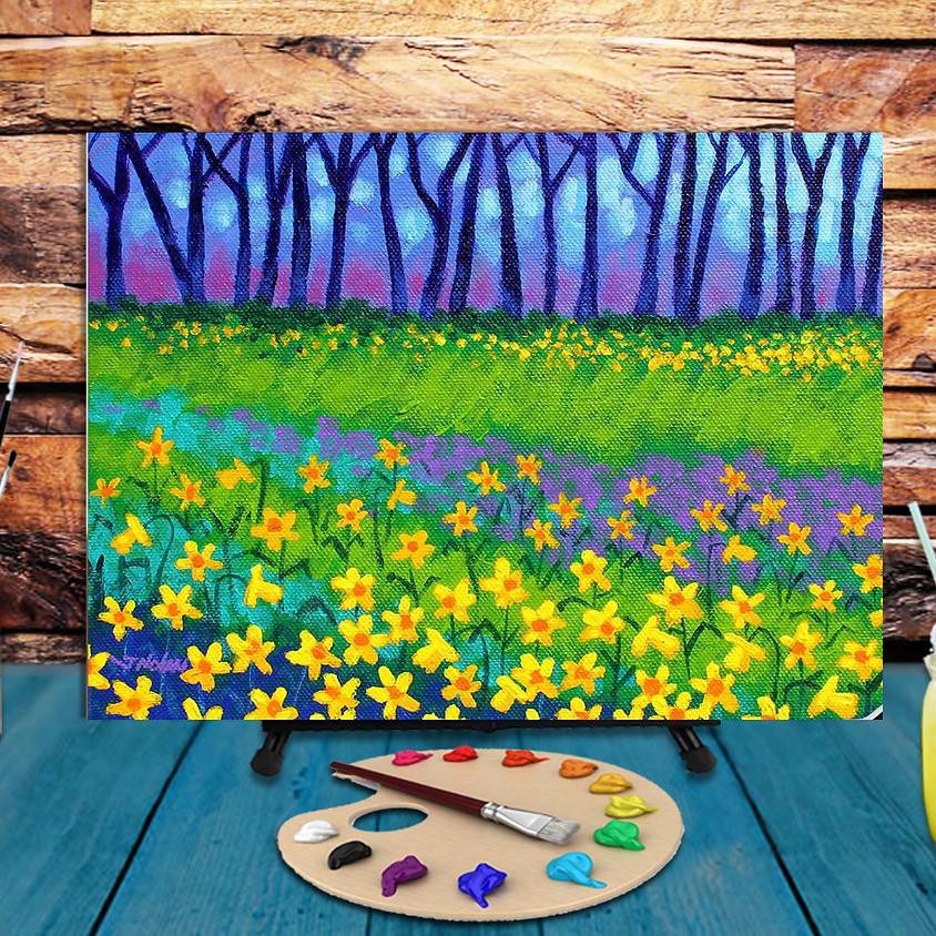 Irish Daffodils  -  Virtual Step by Step Painting Class