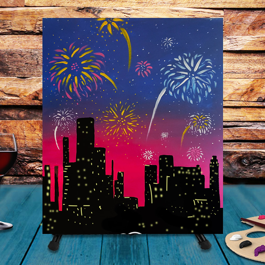 Fireworks -  Step by Step Painting Class