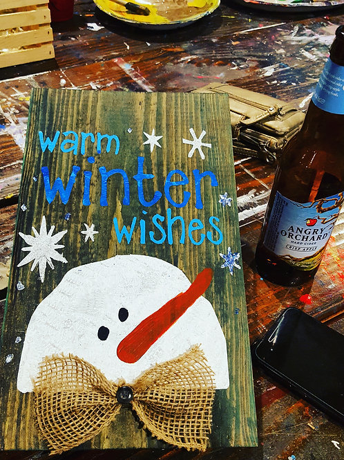 Warm Winter Wishes Wood Experience