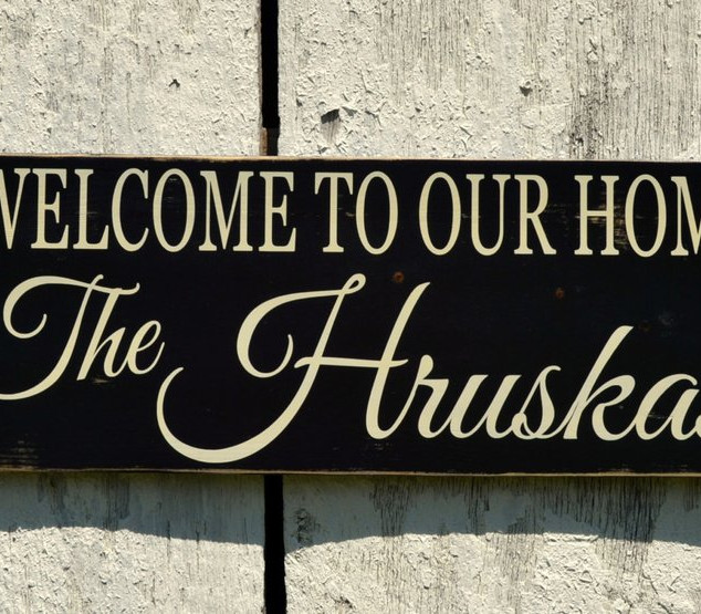 Welcome to our Home Custom Last Name